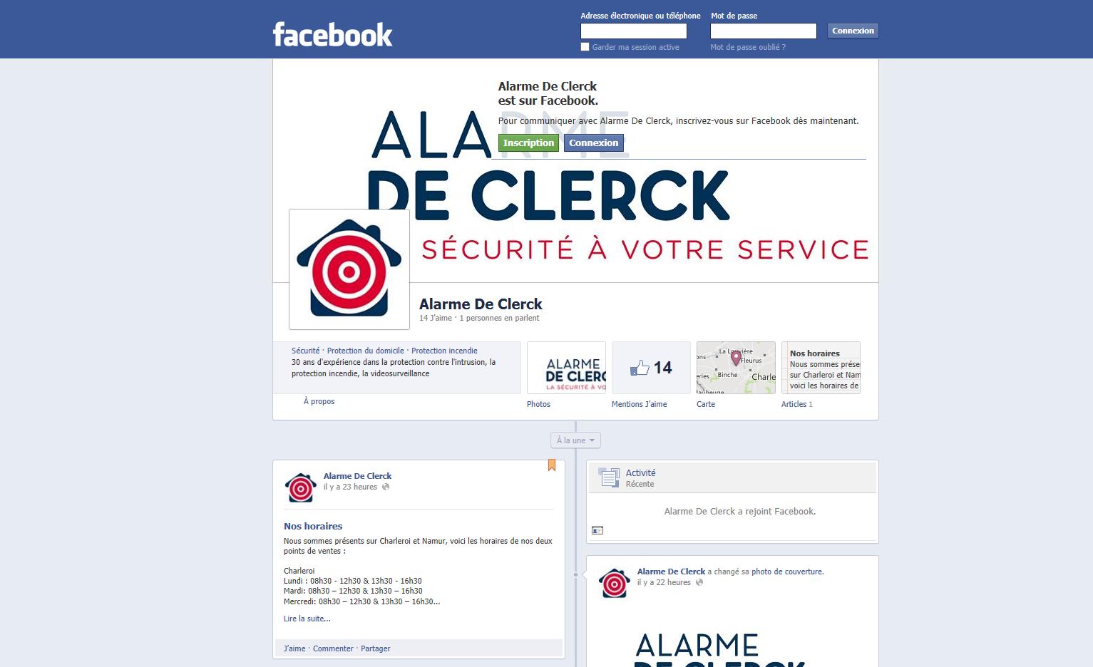 Alarme De Clerck sur Facebook