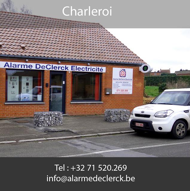 Alarme De Clerck présent à Charleroi