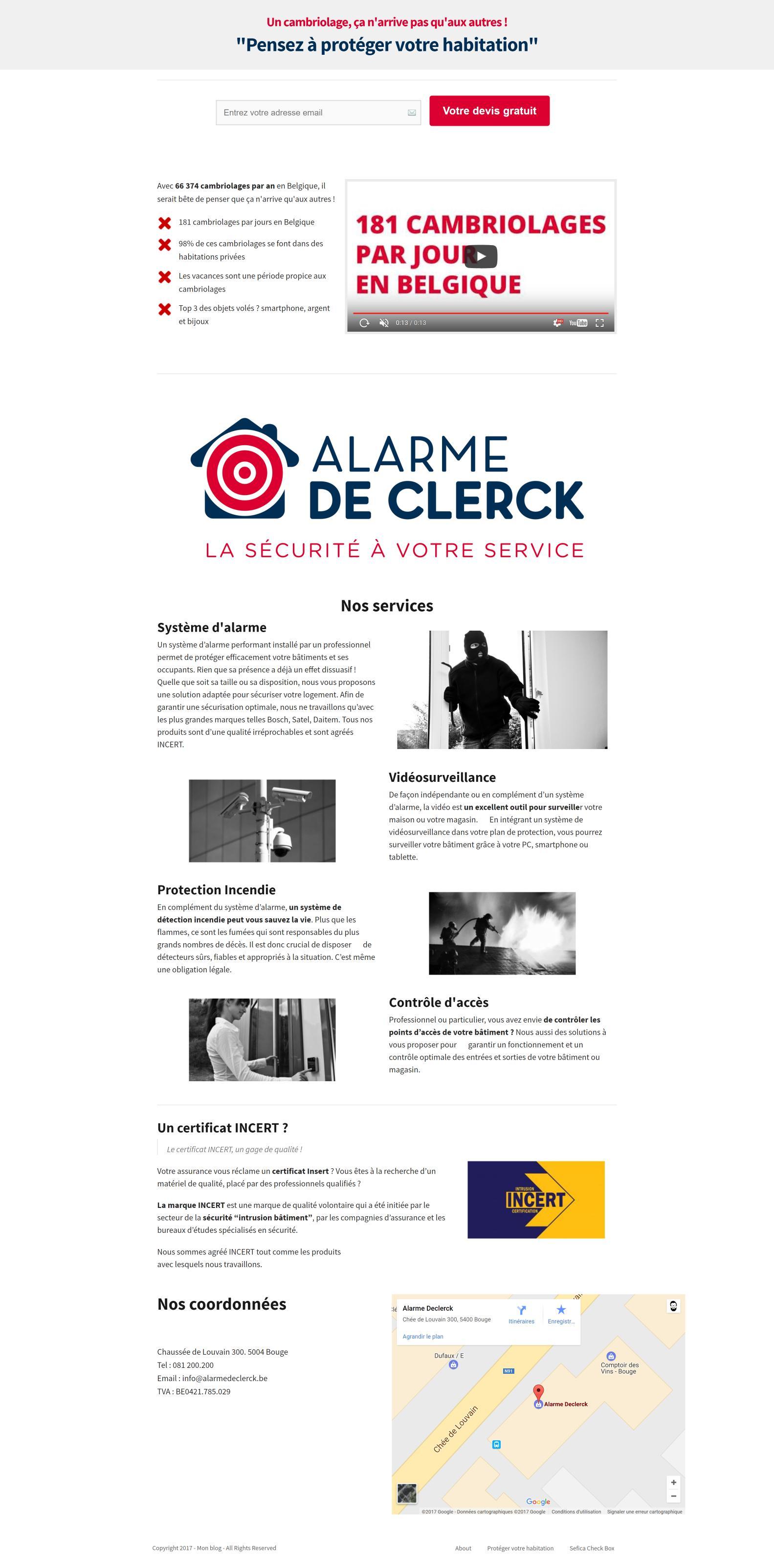 prot ger votre habitation mon blog alarme de clerck. Black Bedroom Furniture Sets. Home Design Ideas